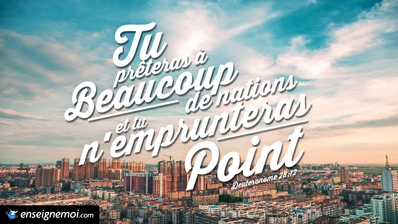 Deutéronome 28:12