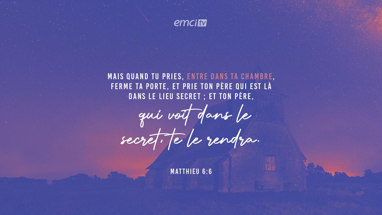 Matthieu 6:6